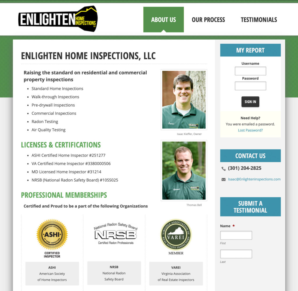 Enlighten Inspections